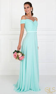 Roiii Strapless Strap One-word Collar Light Green Cocktail Evening Party Prom Dress