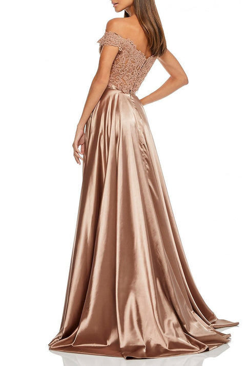 Roiii hot selling fashion lace sequin off-shoulder slim  long evening dresses