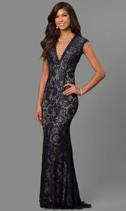 Roiii backless net yarn embroidered fishtail floor-length long black color party dresses