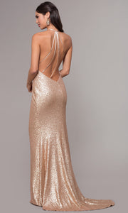 Roiii sexy backless deep v-neck shoulder-straps sequin floor-length party long dresses