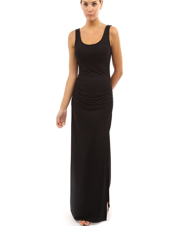 Roiii Womens Casual Sleeveless Long Maxi Dress Bodycon Top Summer Beach Walking Dresses Black Plus Size Clearance 70% Discount !