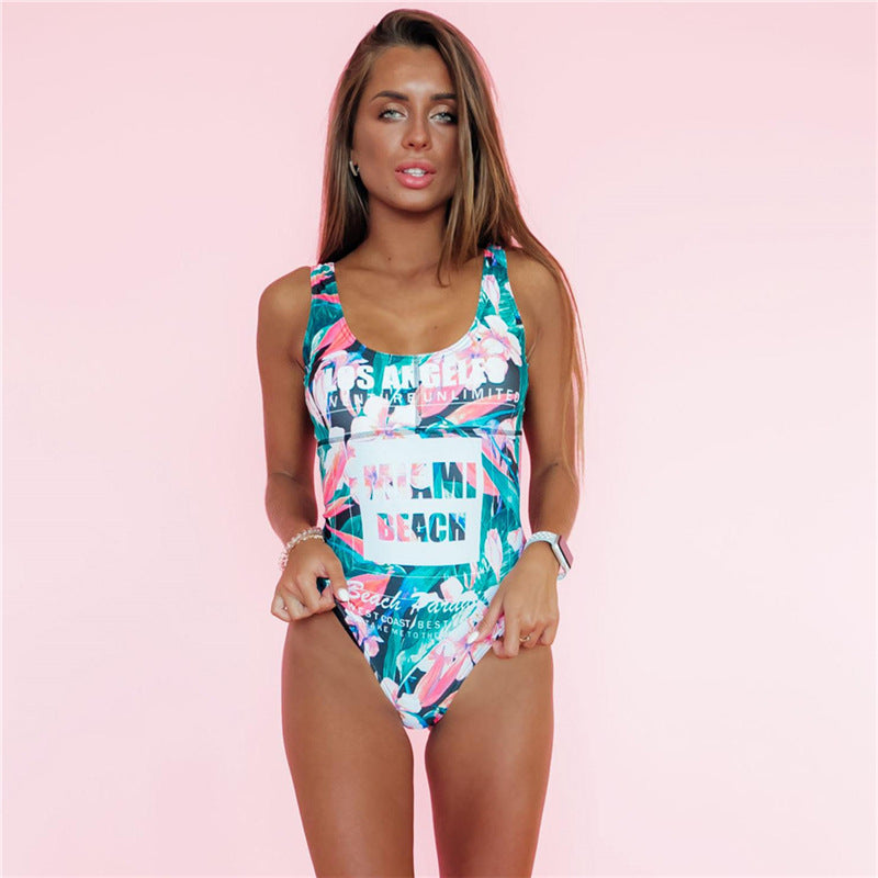 Tropical Run II One Piece Swimsuit - Cosmos Selected