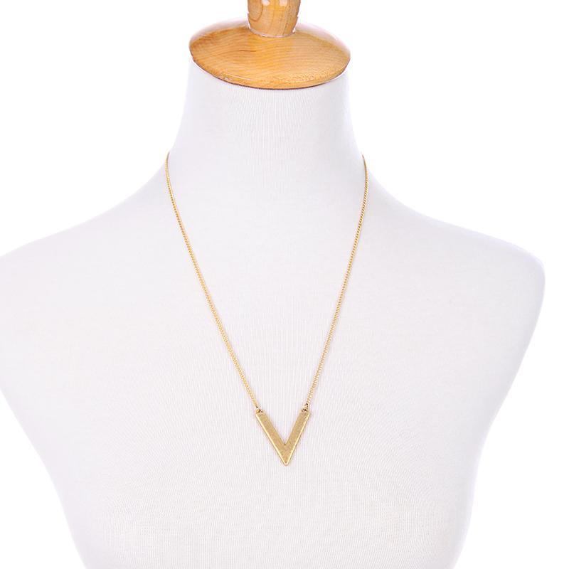 2fer Layered Marble V Necklace - Cosmos Selected