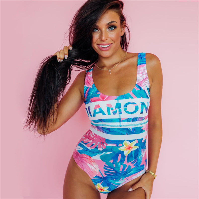 Bright Like A Diamond II One Piece Swimsuit - Cosmos Selected