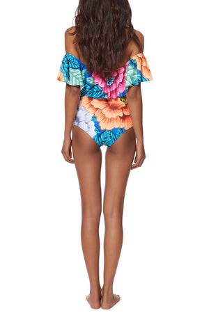 The Flounce One Piece Swimsuit - Cosmos Selected