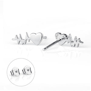 Hear My Heartbeat Stud Earrings - Cosmos Selected