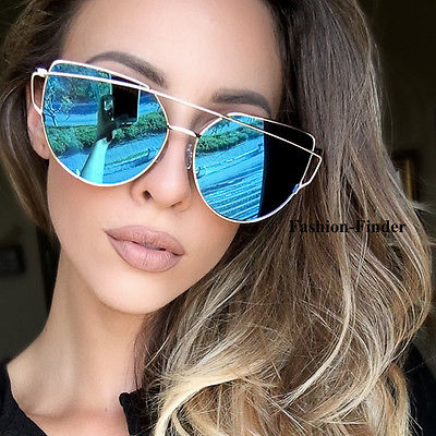 Bridge Cat Eye Mirrored Sunglasses - Cosmos Selected