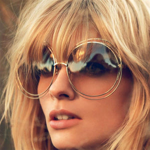 Trace A Round Oversized Sunglasses - Cosmos Selected