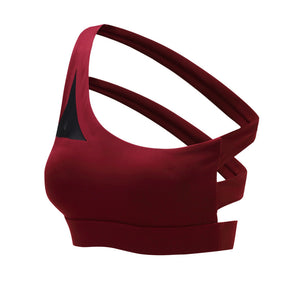 Strapped Back Sports Bra - Cosmos Selected