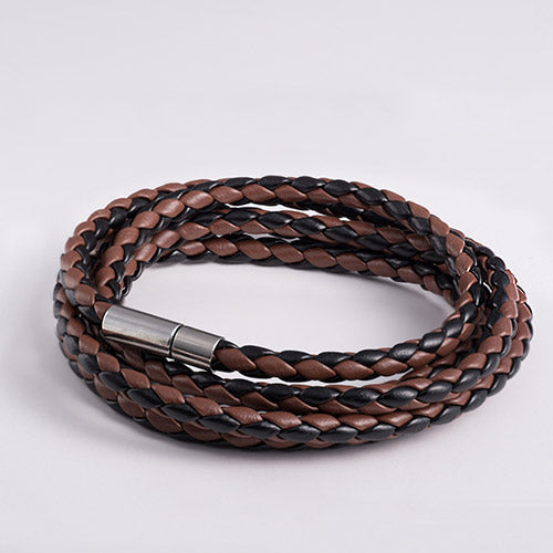 In A Single Piece Multi Layer Leather Bracelet - Cosmos Selected