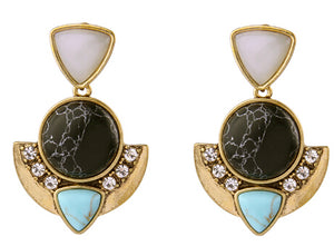 Monet Statement Earrings - Cosmos Selected