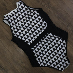 Argyle One Piece Swimsuit - Cosmos Selected