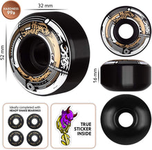 Load image into Gallery viewer, Skateboard Wheels Darkside 52mm 99a Rad Mode