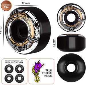 Skateboard Wheels Darkside 52mm 99a Rad Mode