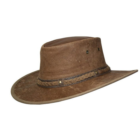 Kangaroo Leather Hat - Hickory