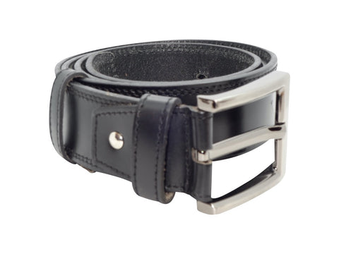 Double Stitched Belt - Black-Belt-Genuine UGG PERTH