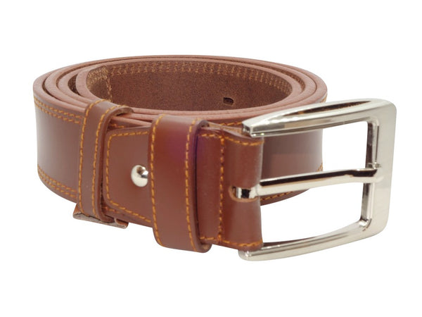 Double Stitched Belt - Brown-Belt-Genuine UGG PERTH