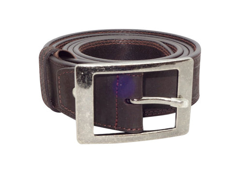 Country Style Buckle - Dark Brown-Belt-Genuine UGG PERTH