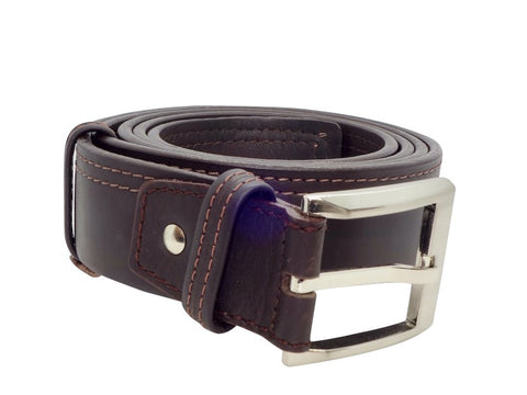 Double Stitched Belt - Dark Brown-Belt-Genuine UGG PERTH