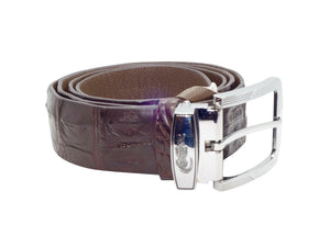 Crocodile Leather Belt - Dark Brown-Belt-Genuine UGG PERTH