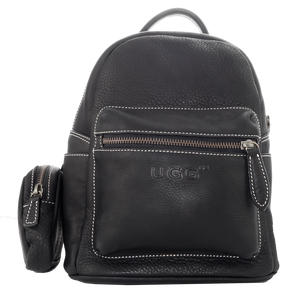 Lamb Leather Pocket Backpack - Black