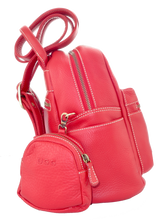 Lamb Leather Pocket Backpack - Red