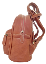 Lamb Leather Pocket Backpack - Tan