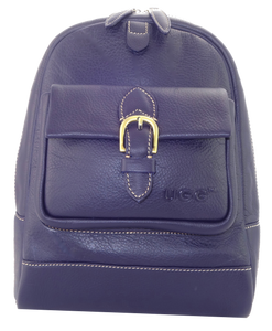 Lamb Leather Backpack - Navy