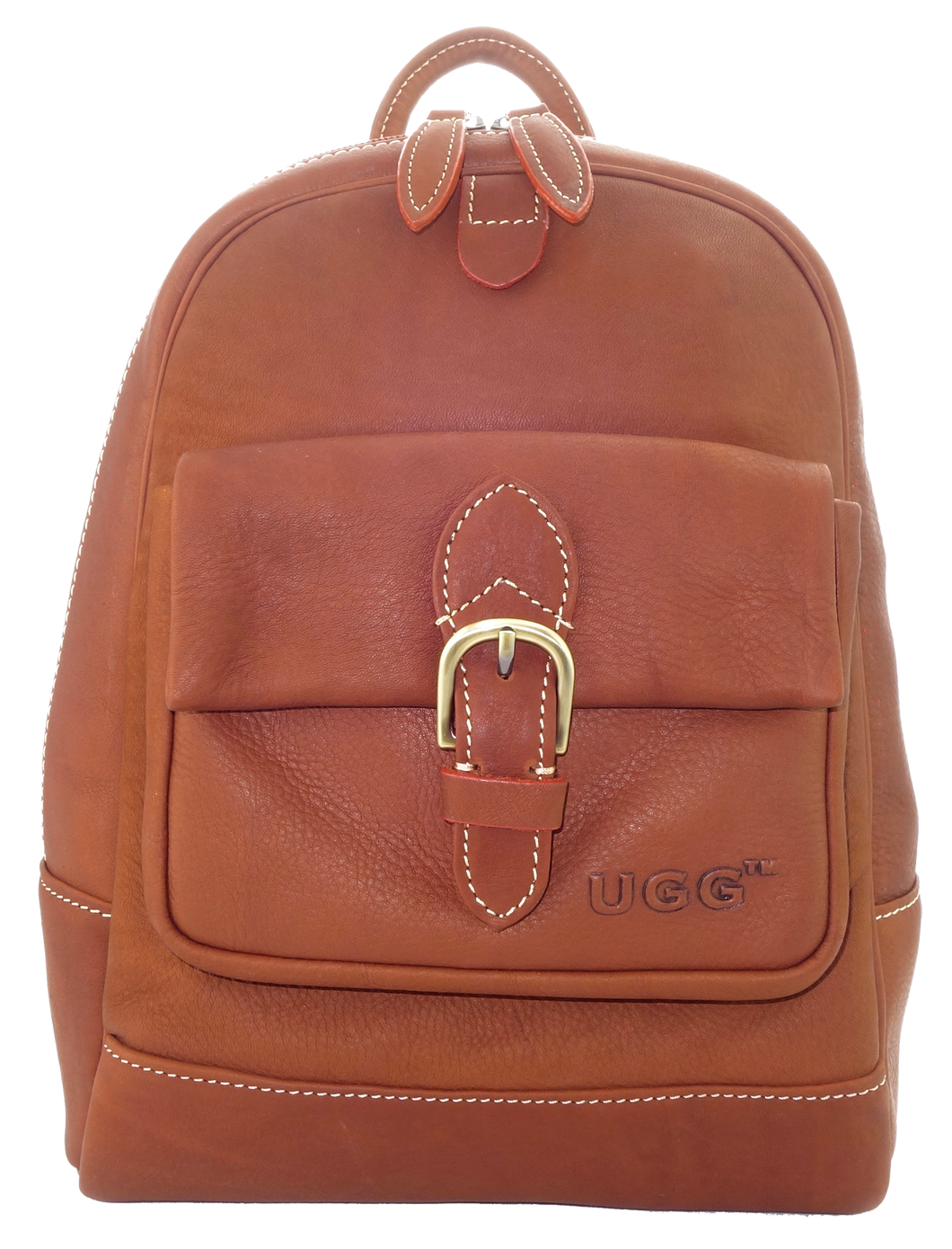 Lamb Leather Backpack - Tan