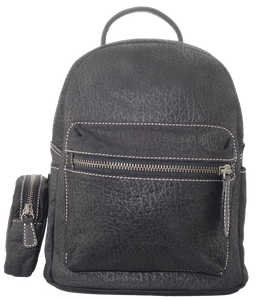 Kangaroo Leather Pocket Backpack - Black