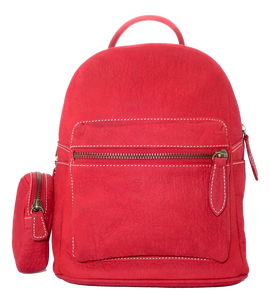Kangaroo Leather Pocket Backpack - Red