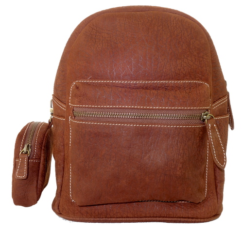 Kangaroo Leather Pocket Backpack - Dark Brown