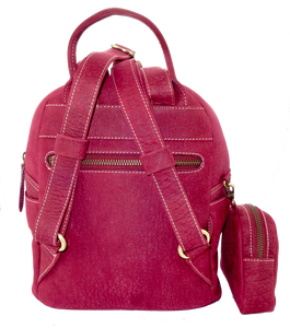 Kangaroo Leather Pocket Backpack - Purple