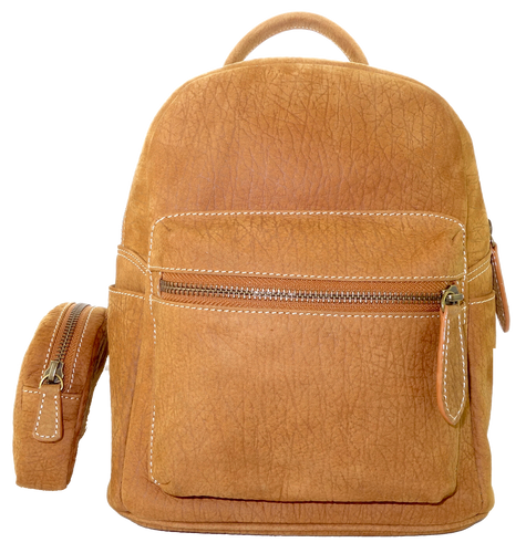 Kangaroo Leather Pocket Backpack - Light Brown