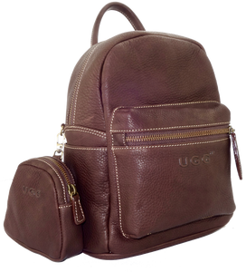 Lamb Leather Pocket Backpack - Dark Brown