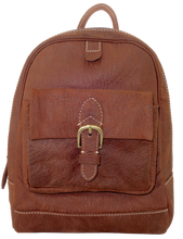 Kangaroo Leather Backpack - Dark Brown