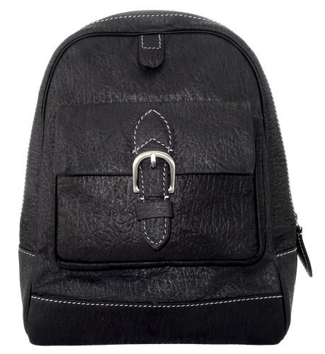 Kangaroo Leather Backpack - Black