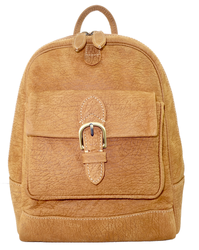 Kangaroo Leather Backpack - Light Brown
