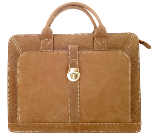 Kangaroo Leather Briefcase -Tan 8757