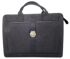 Kangaroo Leather Briefcase - Black 8757