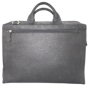 Kangaroo Leather Briefcase - Black 8708