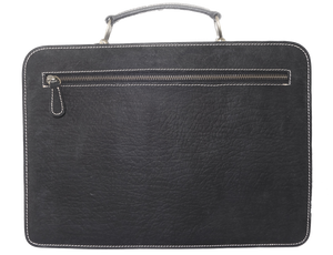 Kangaroo Leather Briefcase - Black 8729