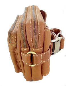 Lamb Leather Bum Bag - Tan