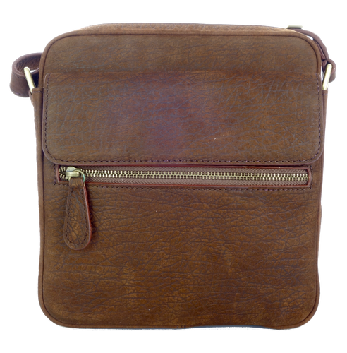 Kangaroo Leather Satchel - Dark Brown