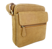 Kangaroo Leather Satchel - Light Brown