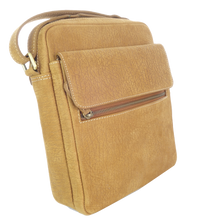 Kangaroo Leather Long Satchel - Light Brown
