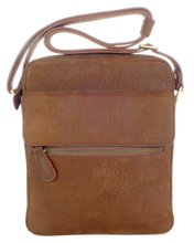 Kangaroo Leather Long Satchel - Dark Brown