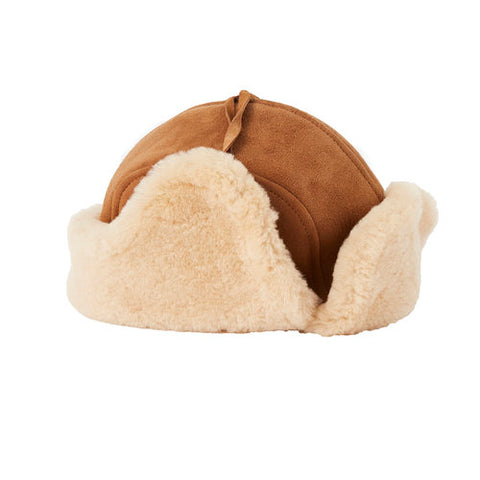 Sheepskin Hat with Tie-UGG Accessories-Genuine UGG PERTH