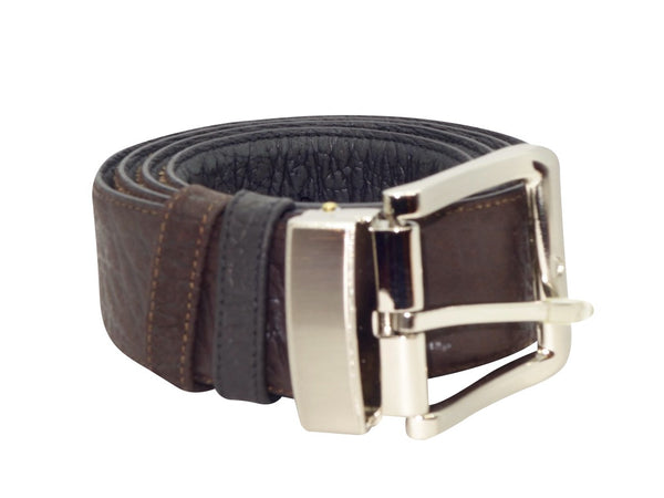 Reversible Roo Belt - Black & Dark Brown-Belt-Genuine UGG PERTH