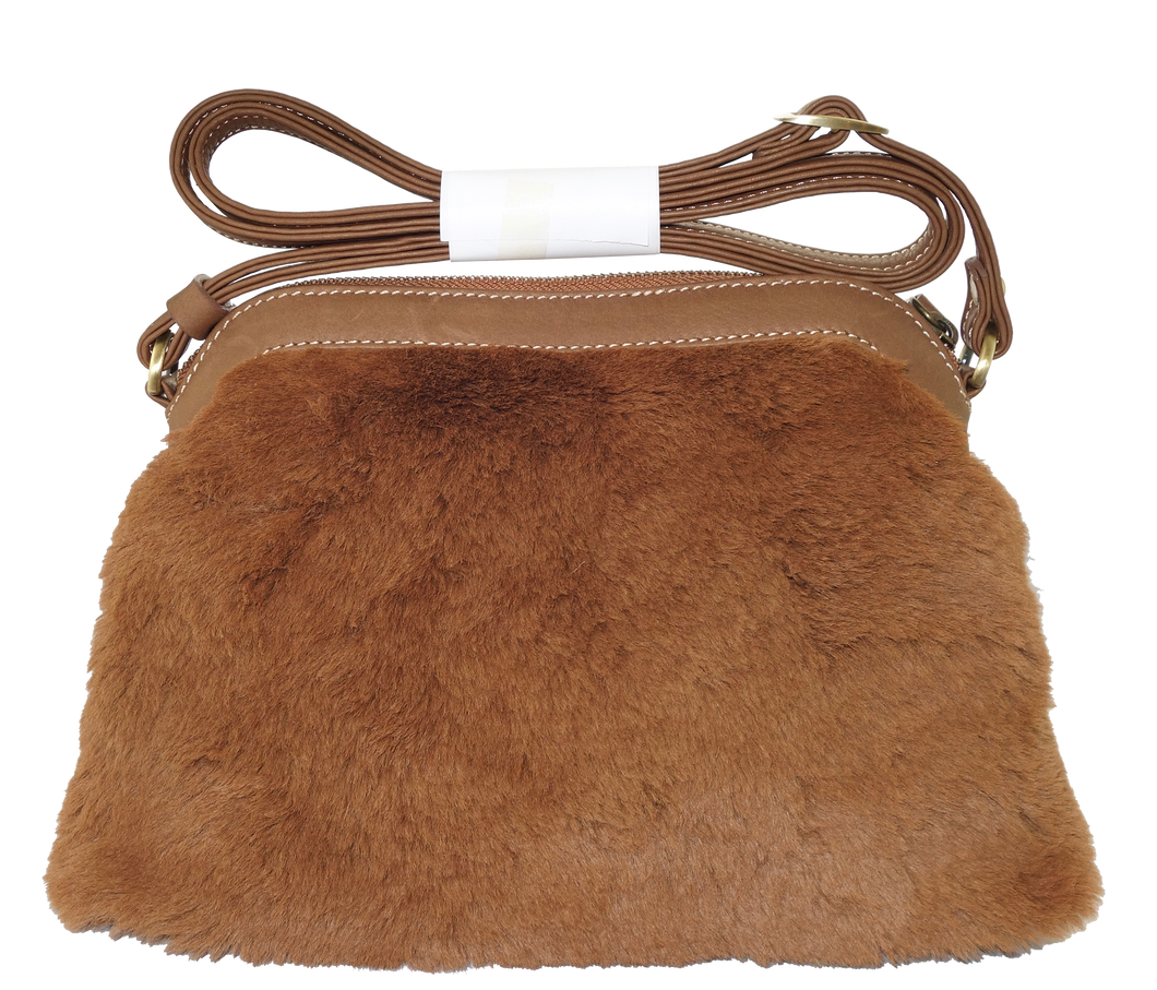 Kangaroo Fur Medium Shoulder Bag